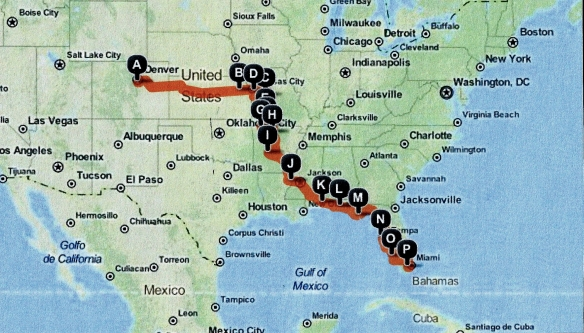Our 2012 travel map