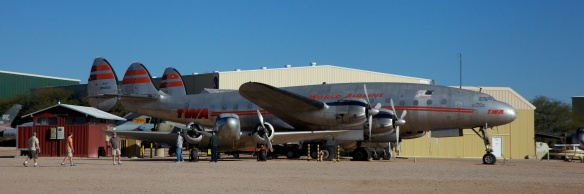 Lockheed L-049 Constellation in TWA colors